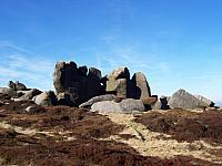 Weathered gritstone tors - Barrow Stones